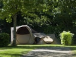 Pitch - Pitch in the shade 80 m² sous bois - Camping Sites et Paysages de Penboch