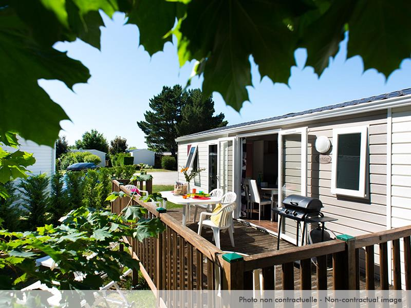 Location - Mobil Home Excellence 4 Chambres Terrasse - Camping Caravaning Domaine de Dugny
