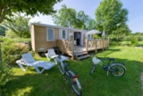 Rental - Cottage Premium 33m² (3 bedrooms) - TV - Camping Sites et Paysages DE L'ÉTANG
