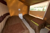 Rental - Tent Cotton Lodge 20m² (2 bedrooms) - without toilet blocks - Camping Sites et Paysages DE L'ÉTANG