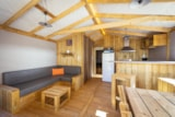 Rental - Premium Cabin (2 bedrooms) 2016 NEW ! - 32m² (with private facilities) WIFI - Camping Sites et Paysages DE L'ÉTANG