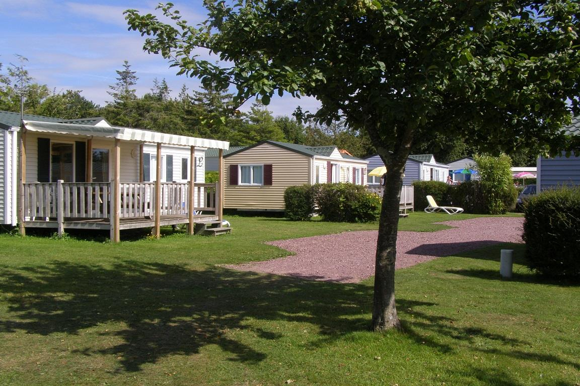 Location - Mobil-Home  26M² - 2 Chambres - - Camping L'Étang des Haizes
