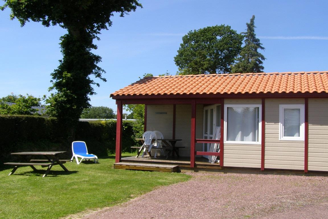 Location - Chalet Eco 28M² - 2 Chambres - - Camping L'Étang des Haizes