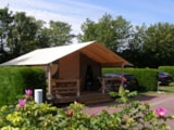 Rental - SAMOA TENT 30m² with bathroom - - Airotel Camping Etang des Haizes
