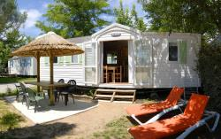 Location - Mobile Home 34M² - 3 Chambres - Camping La Nouzarède