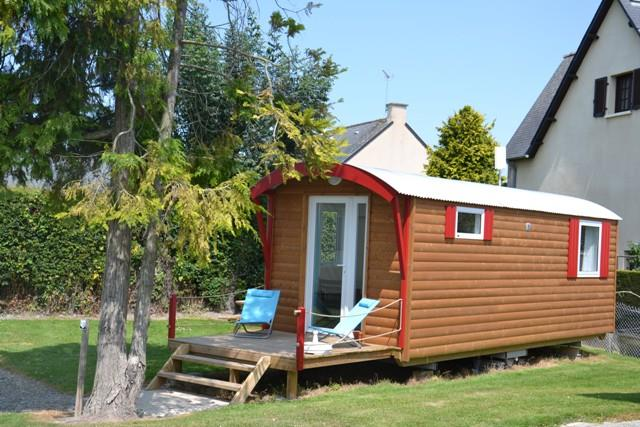 Location - Roulotte - Camping Aux Pommiers
