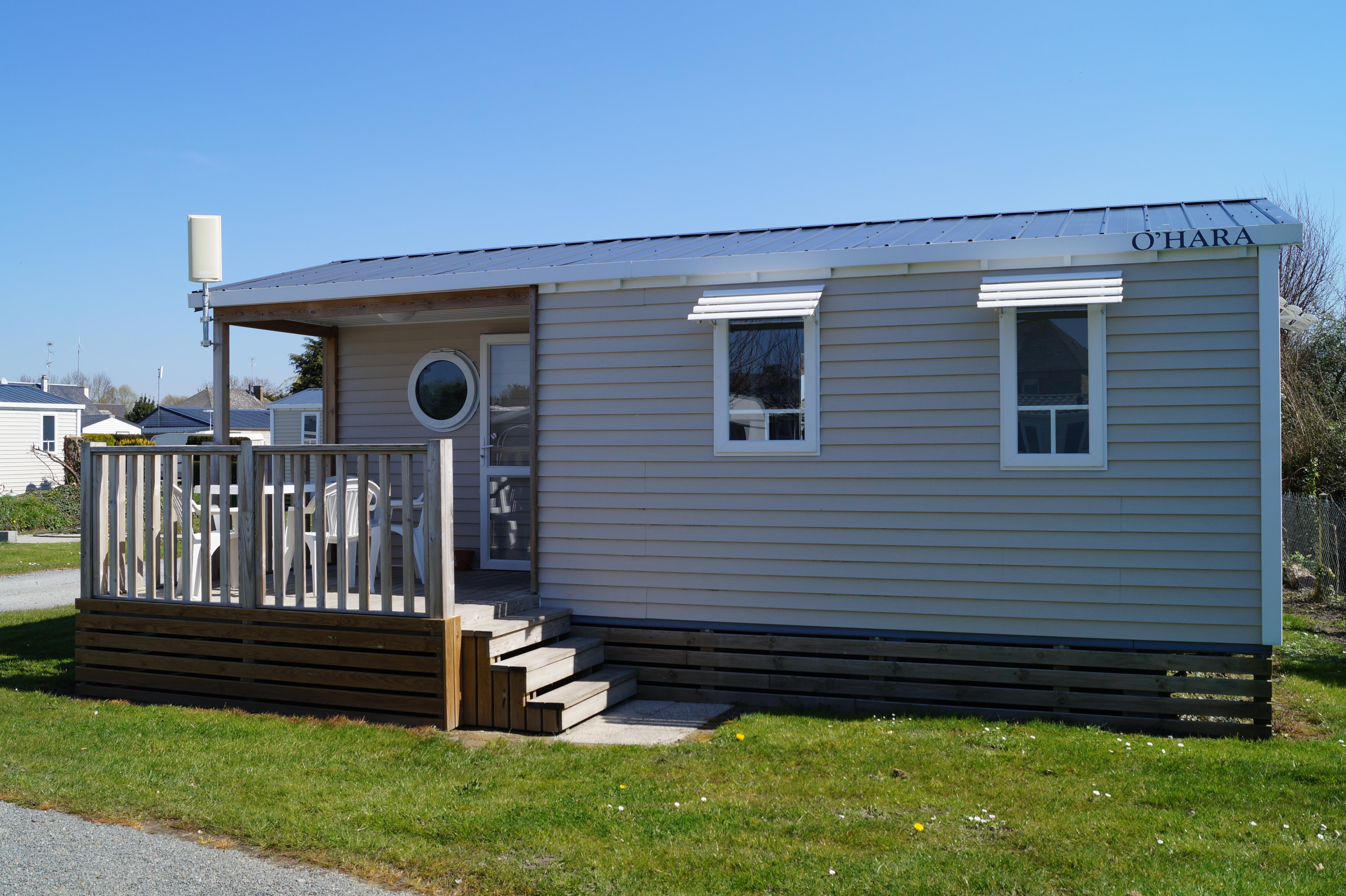 Location - Mobil Home 2 Chambres - Camping Aux Pommiers