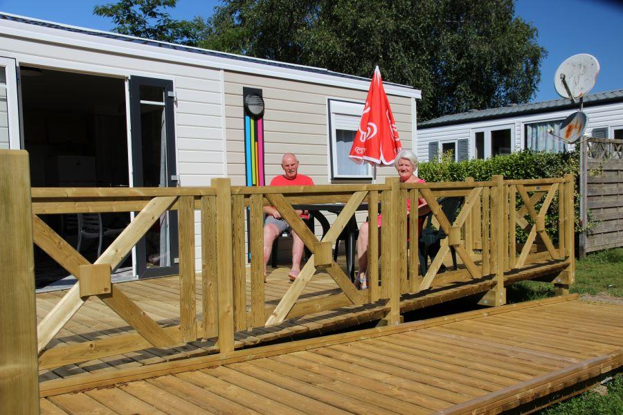 Location - Mobil-Home Ibiza Adapt - Camping de la Piscine
