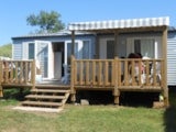 Rental - COTTAGE SUPER FAMILY TV 36.73 m² 3 bedrooms Half-covered terrace 18m2 - Camping LE PANORAMIC