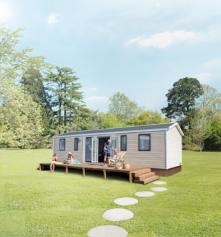NEW 2019  MOBIL-HOME QUATTRO, 4 Bedrooms, 2 bathrooms, 2 WC, equipped kitchen with dishwasher, covered terrace