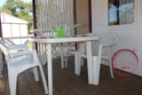 Rental - Chalet Fraise Eco + 24m² - air-conditioning (1 bedroom) + airconditioning + TV + 1 car included - Flower Camping les Chênes Rouges