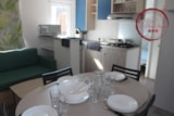 Rental - Mobile home Grenat Confort+ 33m² (3 bedrooms) + airconditioning + TV + 1 car included - Flower Camping les Chênes Rouges