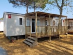 Rental - Mobil home Evolution 3 bedrooms, air conditioning, TV - Camping Argeles Vacances
