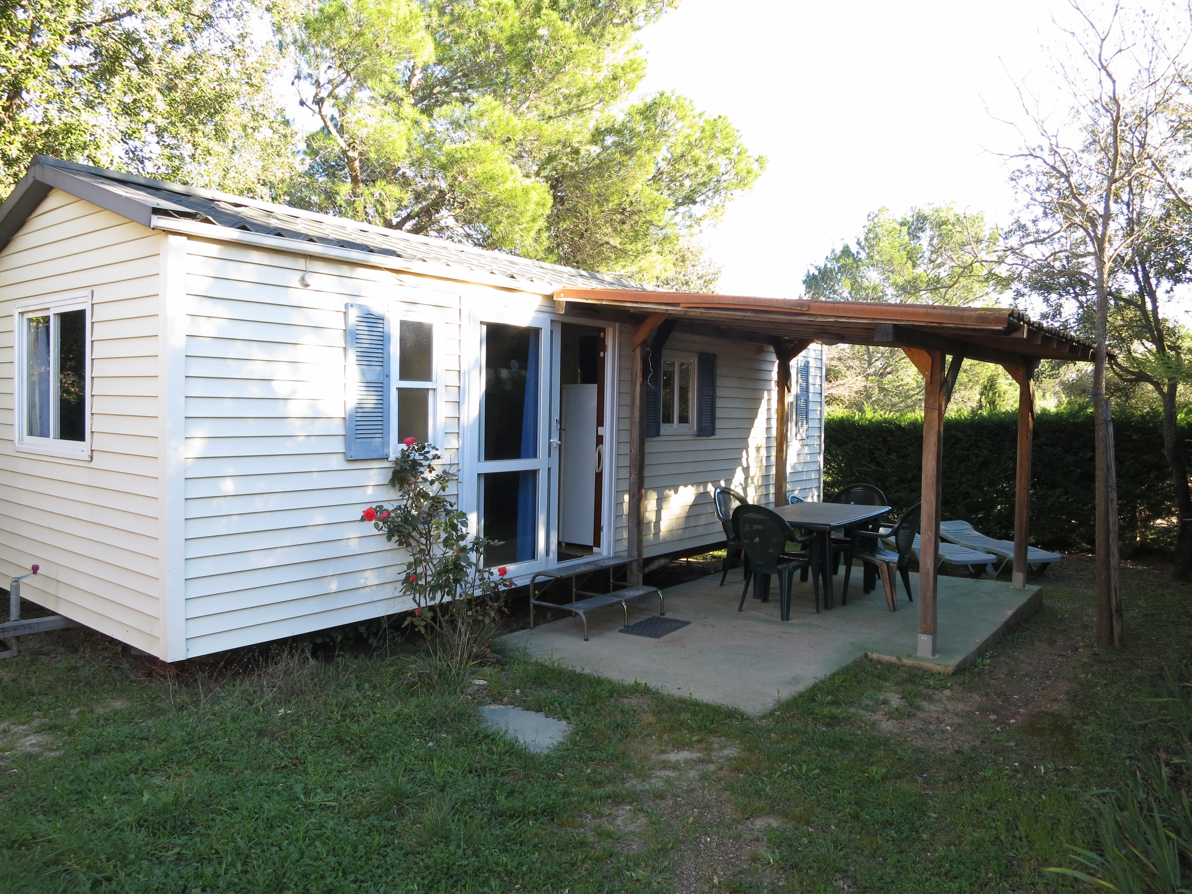 Location - Mobil Home Sun Roller Avec Sanitaire - Camping L'Oliveraie