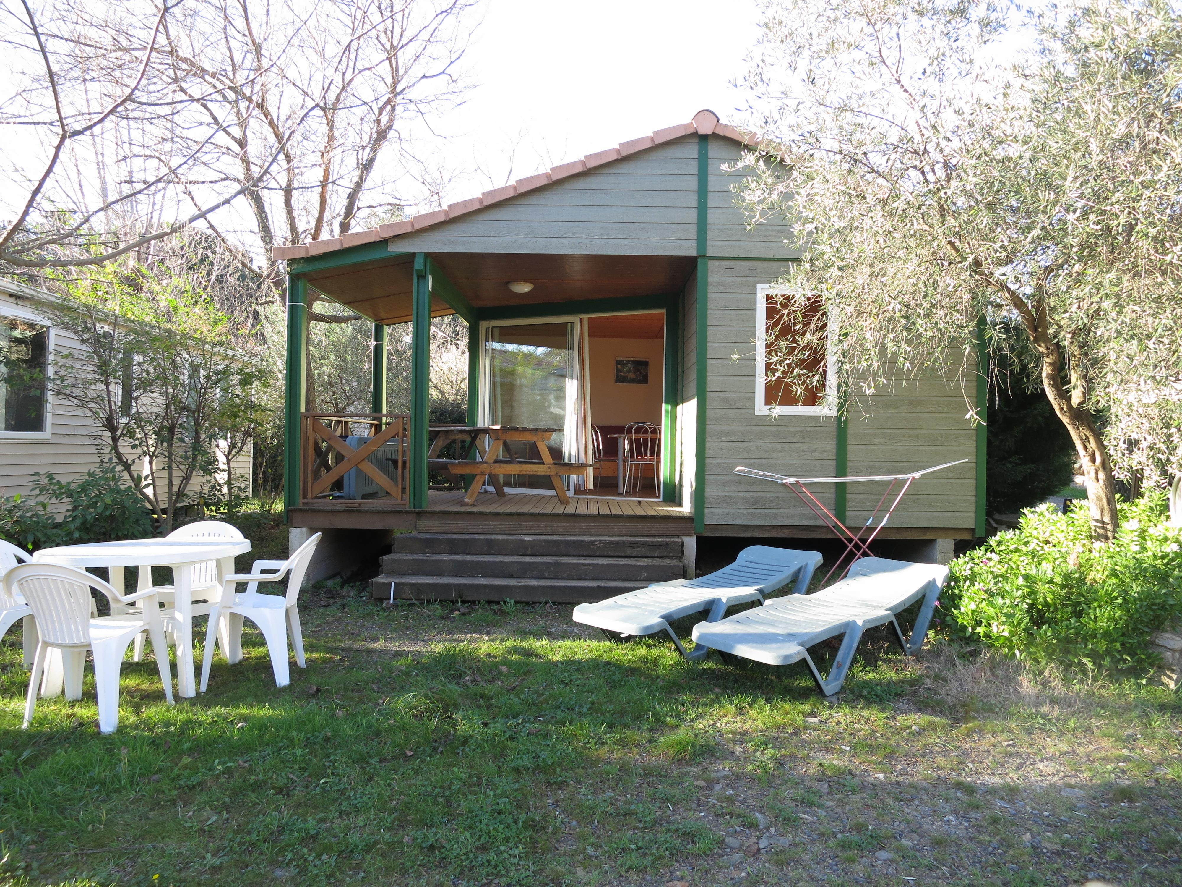 Location - Chalet Fabre 35M² - Camping L'Oliveraie