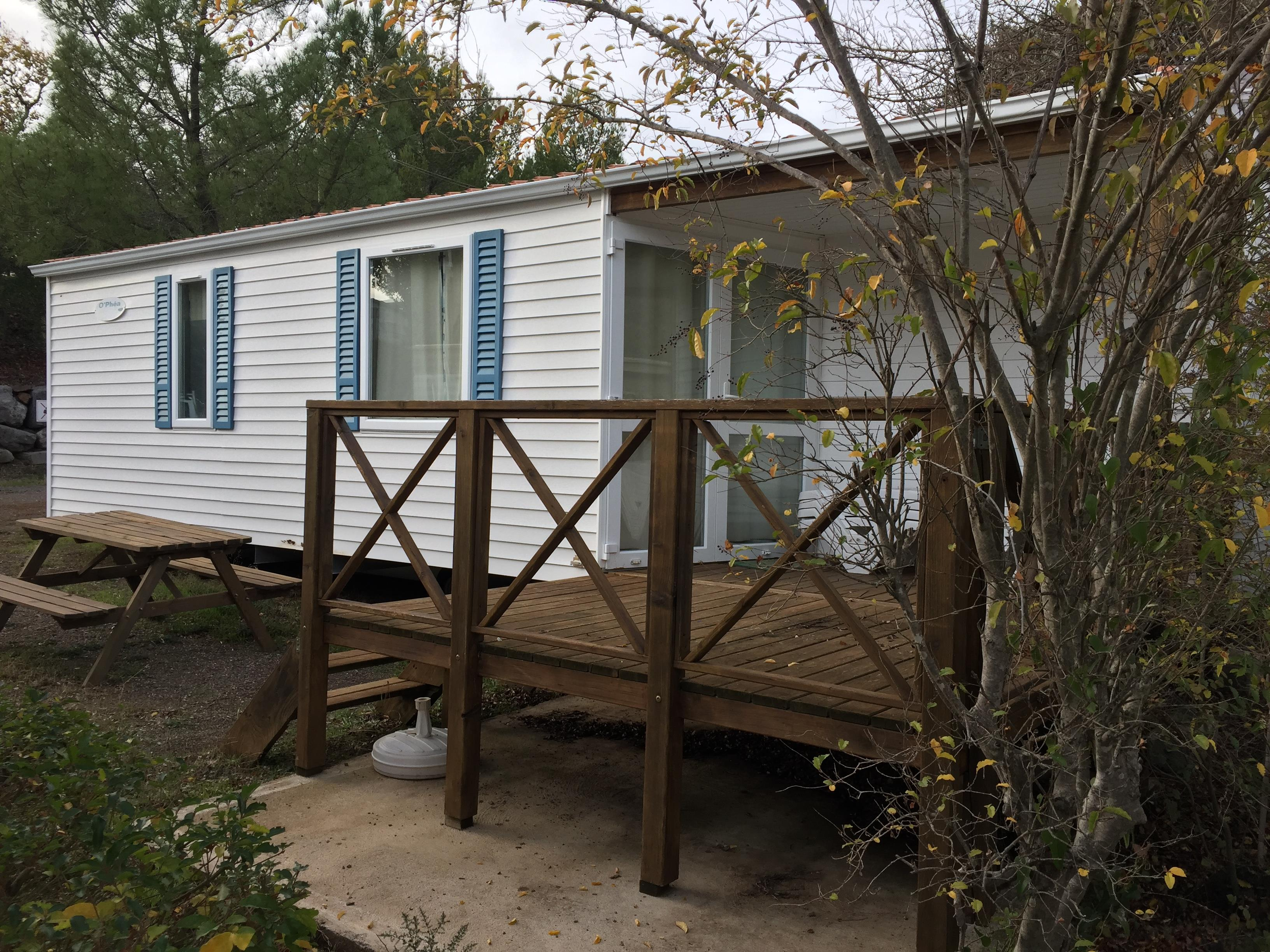 Location - Mobil Home O'hara 3 Chambres - Avec Sanitaires - Camping L'Oliveraie