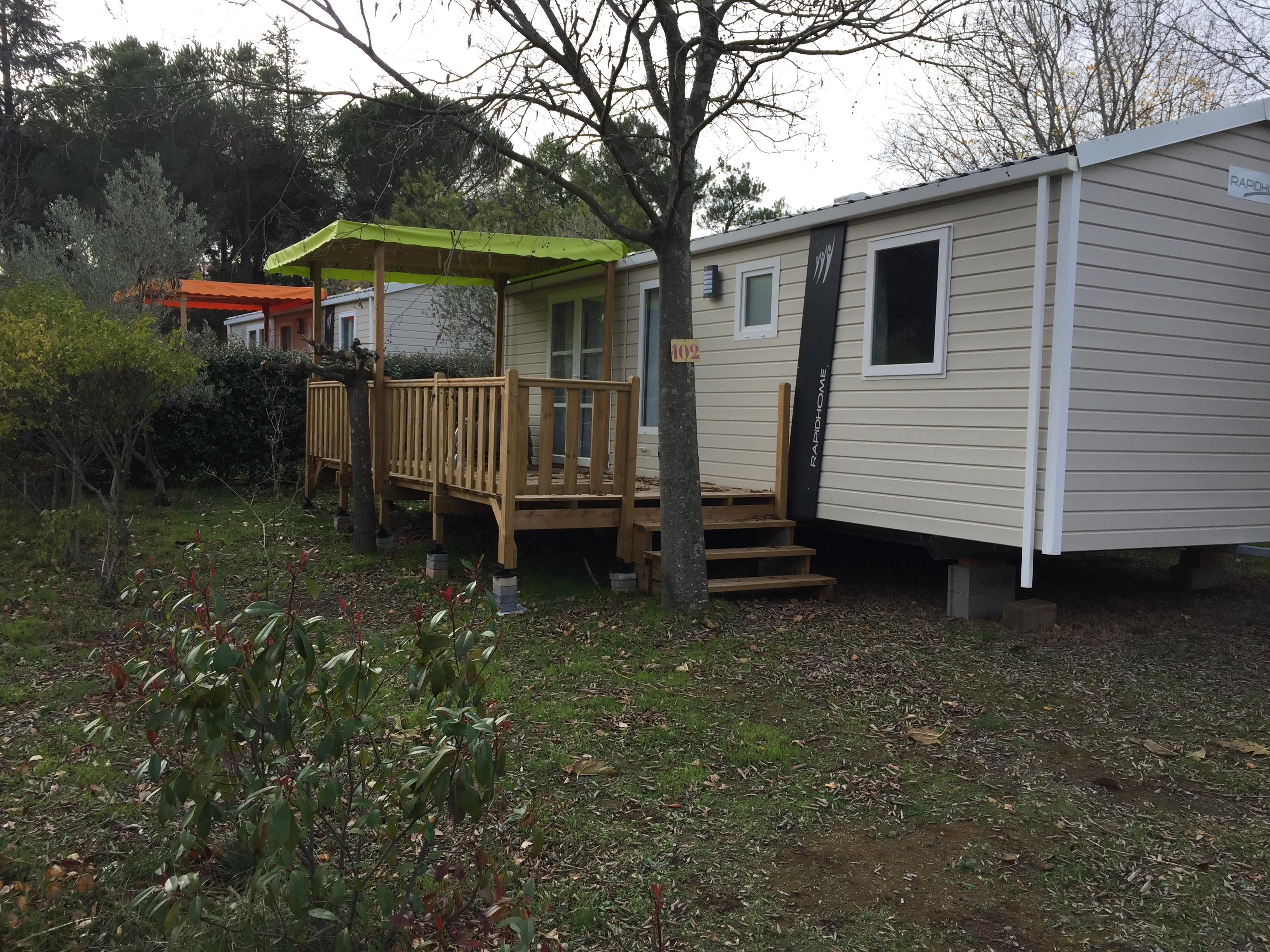Mobil-home Lodge RAPIDHOME 3 bedrooms - with private facilities