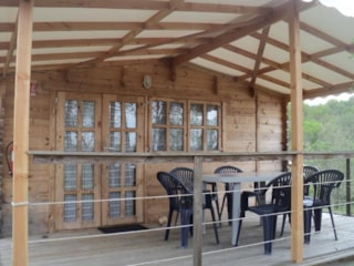 Wooden Chalet 23m² with private facilities