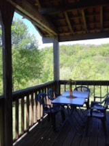 Rental - Wooden Chalet 35m² with private facilities - Camping Bellevue