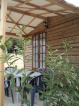 Rental - Wooden Chalet 31m² with private facilities - Camping Bellevue
