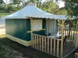 Rental - Canvas bungalow 16m² - without toilet blocks (from sunday to sunday) - Camping Bellevue