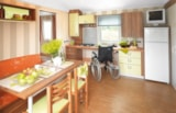 Rental - Mobilhome HELIOS 2 bedrooms 33m² + Terrace + TV - Camping La Grande Tortue