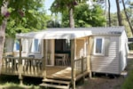 Huuraccommodaties - Mobil home CORDELIA 3ch 34 m2 TV - Camping La Grande Tortue
