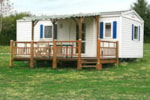 Huuraccommodaties - Mobil Home Mercure terras - Centre de Vacances Naturiste le Colombier
