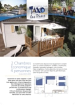 Rental - Mobile Home Eco (2 bedrooms) - Camping Taxo les Pins