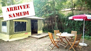 2-room 20 sqm CARAÏBES canvas bungalow (from Saturday to Sunday)