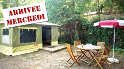 Rental - 2-room 20 sqm CARAÏBES canvas bungalow (Wednesday to Wednesday) - Le Moulin de David