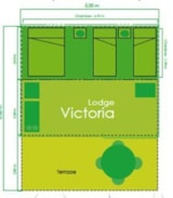 Rental - 30 sqm VICTORIA lodge - Luxury fittings (Wednesday to Wednesday) - Le Moulin de David