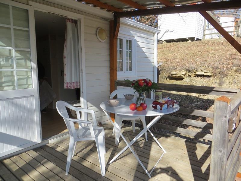 Mobile Home Eco FARNIENTE 18m² (1 bedroom) überdachte Terrasse 7m²