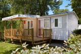 Mobilheim 36 m2, 3 bedrooms, bathroom and toilets separated, with decking and air-conditioning