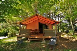 Rental - NEW 2017:Tent Lodge Victoria 30 m²  + lavatory  +covered terrace - Camping AU P'TIT BONHEUR