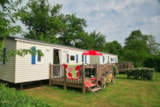 Rental - Mobile home 29m² - 2 bedrooms + terrace 11m² - Camping Le Bois Vert
