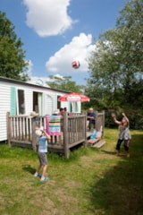 Rental - Mobile home 32m² - 3 bedrooms + terrace 11 m² - Camping Le Bois Vert