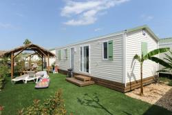 Huuraccommodaties - Stacaravan Collioure - Reversible Air Conditioning - Tv - Camping CALA GOGO