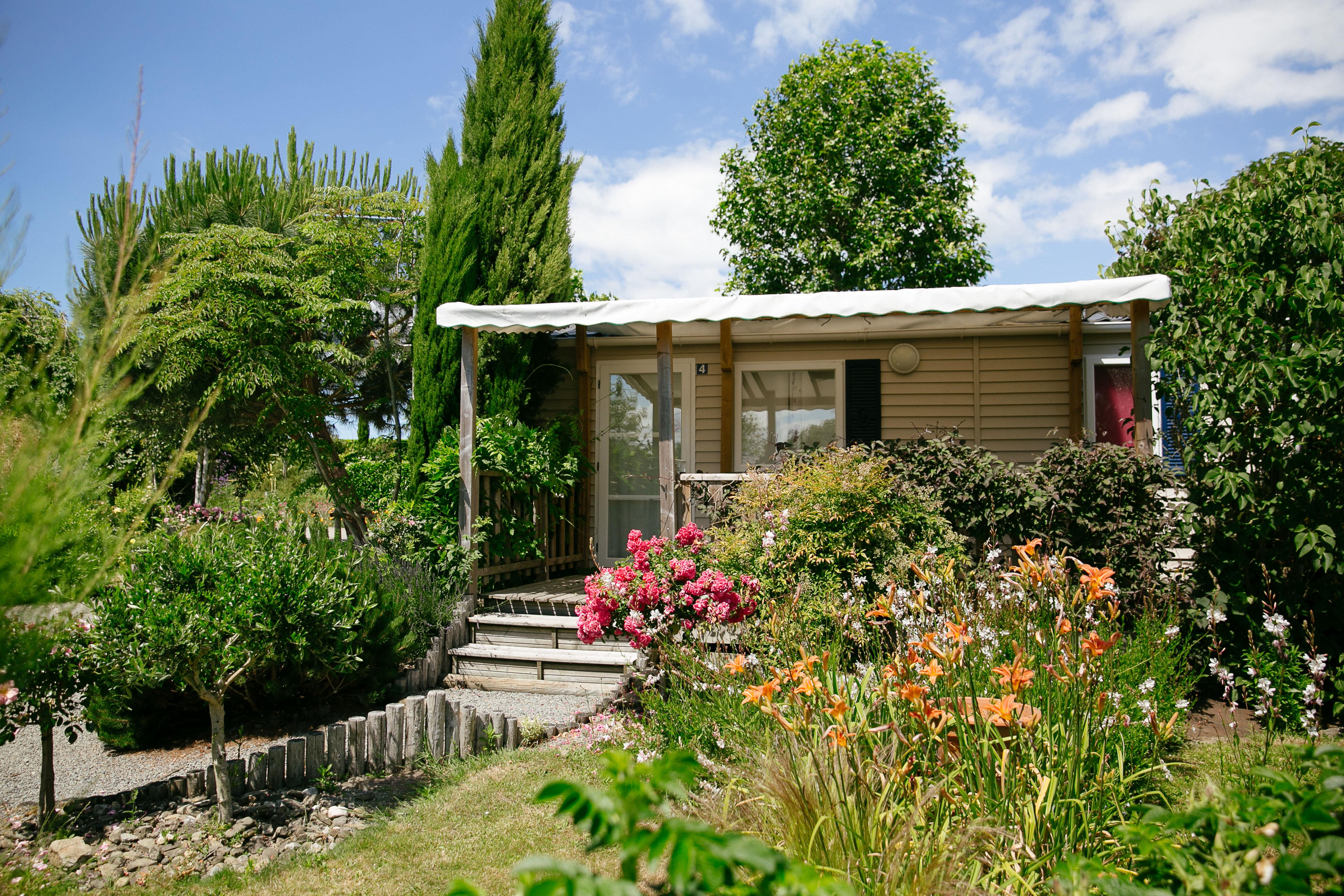 Location - Mobil Home 2 Chambres (28M²) - Tv Terrasse - Camping Saint-Michel