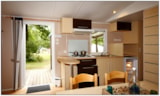 Rental - Mobilhome - 29 m², WC, shower, terrace - Creuse Nature Naturisme