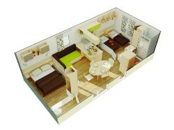 Mobil-Home Privilege Flores 2 - 2 Chambres + Canapé Convertible