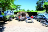 Pitch - Pitch Trekking Package by foot or by bike with tent without electricity - Flower Camping Le Moteno