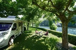 Pitch - Pitch Grand Confort / Dordogne Riverside pitch + electricity + water and drainage point - Domaine de Soleil Plage