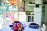 Rental - Chalet du Lac CONFORT+ 25m² 2 bedrooms + covered terrace 12m² - Flower CAMPING LA BRETONNIERE