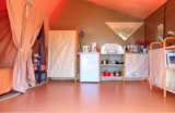 Rental - Furnished Canvas bungalow ECO 20m²  (Canada) 2 bedrooms + Covered terrace 12m² - Flower CAMPING LA BRETONNIERE