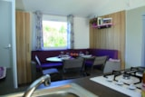 Rental - Cottage Prairie CONFORT+ 32m2 3 bedrooms (baby bed)+ sheltered terrace 11m² - Flower CAMPING LA BRETONNIERE
