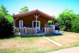 Rental - Chalet Prestige PREMIUM 28m² 2 bedrooms (baby bed) + sheltered terrace - Flower CAMPING LA BRETONNIERE