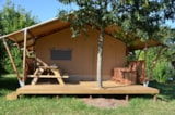 Rental - Safari Lodge Premium 35M2 Equiped 2 Bedrooms With Sanitairy Covered Terrasse 15M2 - Flower CAMPING LA BRETONNIERE