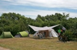 Pitch - Comfort Package (1 tent, caravan or motorhome / 1 car / electricity 12A) - Flower CAMPING LA BRETONNIERE