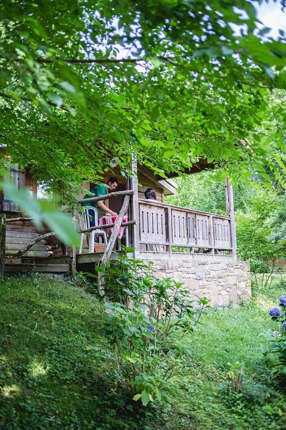 Location - Chalet Ibardin 35M² 2 Chambres - Camping Le Col d'Ibardin